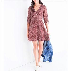 NWT Madewell Starviolet Ditsy Flower Mini Dress